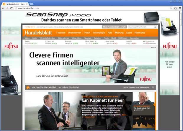 Das ist nicht die Fujitsu-Homepage, sondern das Handelsblatt.