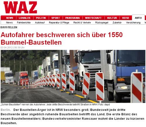 2012: Ramsauer ist sauer