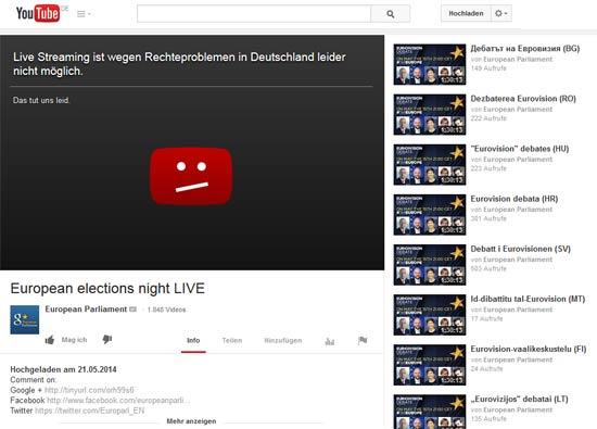EU2014 auf YouTube
