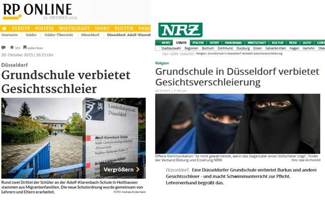 Screenshot: RP und NRZ (WAZ-Gruppe)